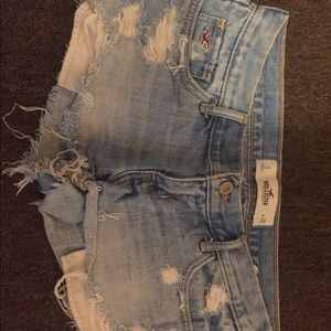 Hollister distressed denim shorts